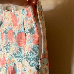 Lush Shorts - Scalloped Floral Shorts Vintage Feel